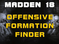 offensive formation finder madden 18